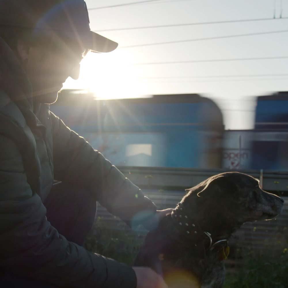 josh and dog